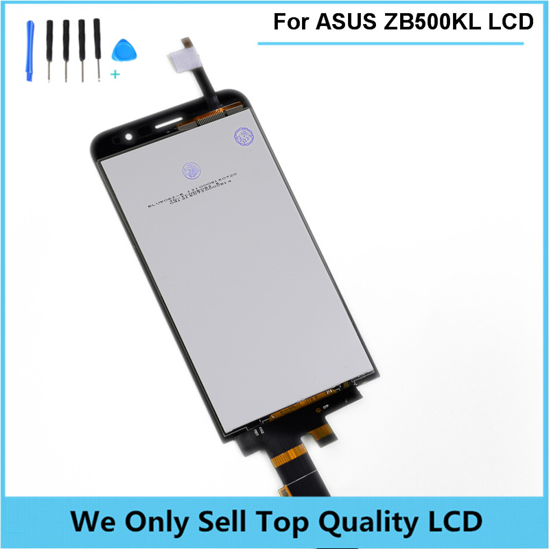 For ASUS Zenfone Go ZB500KL X00ADB X00ADA LCD Display Touch Screen Digitizer module Assembly Replacement Free Shipping + Tools