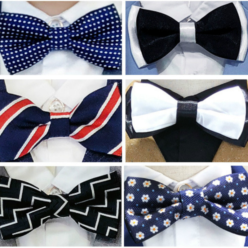 Children Bow Tie Baby Kid Clothing Accessories Student Boys Gentleman Adjustable Suit Shirt Neck Tie Bowknot Dot For Party