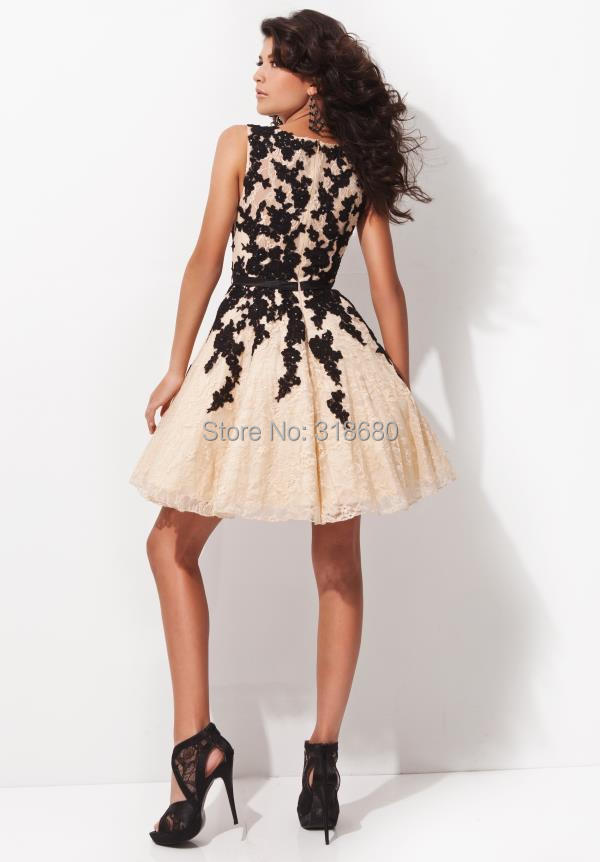 c912f72f3f35 Free Shipping Lace Appliqued Waist Belt Short Cocktail Ball Gown Party  Dresses Online Shopping Cocktail Dresses Black-in Cocktail Dresses from  Weddings ...