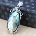 19*39mm Hot sale Natural Abalone seashells pendants Accessories Series  Women jewelry making design Wholesale and retail