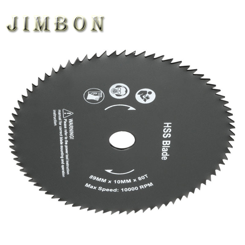 JimBon 1pc 89mm 80 Teeth HSS Circular Saw Blade 10mm Hole Cutting Discs Wheel Rotary Tool все цены