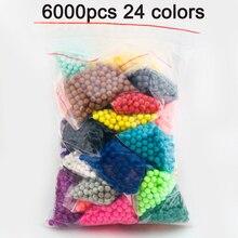 DOLLRYGA, 6000 шт., 24 цвета, бусины-головоломки, Кристальный цвет, Aqua, сделай сам, бусины, набор для распыления воды, игры в мяч, 3D, волшебная игрушка ручной работы для детей