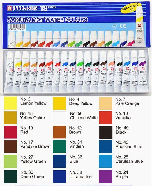 Cat Air Untuk Melukis : untuk, melukis, Sakura, Warna, Pigmen, Untuk, Lukisan, Jepang|watercolor, Pigment|water, Colorswatercolor, Paint, AliExpress