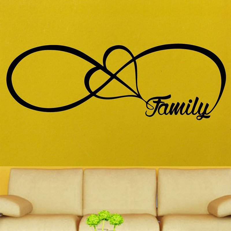 POOMOO Wall Decor Personalized Infinity Symbol LOVE Bedroom Wall ...