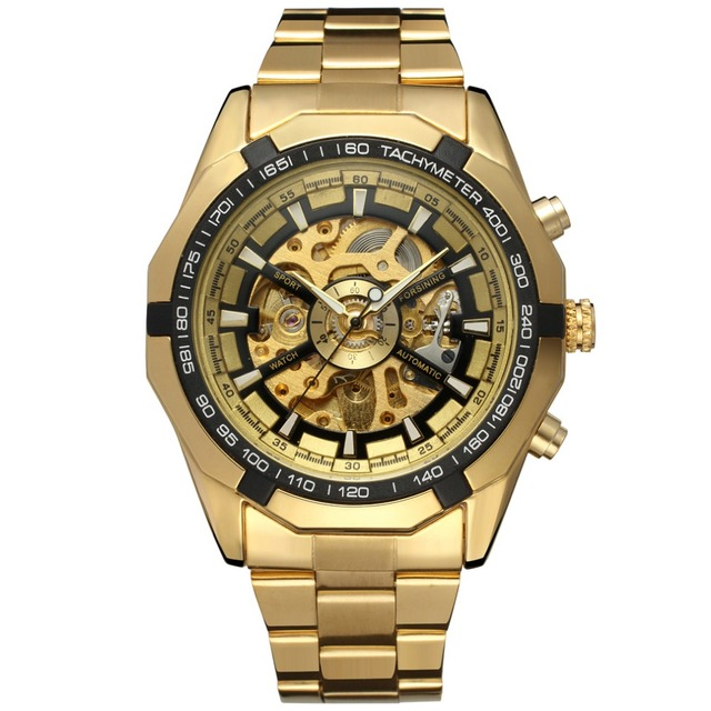 Forsining Watch Men Fashion Relogio Masculino Automatic Mechanical gold  skeleton vintage watch 2017 Mens Watch Top 335ac6793af6a