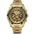 Forsining hombres del reloj de manera relogio masculino reloj mecánico automático esquelético del oro de la vendimia 2017 reloj para hombre de primeras marcas de lujo
