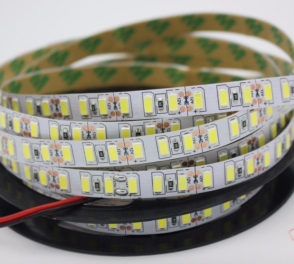 Super Bright 120leds/m SMD 5630 5730 led strip light Flexible 5M 600 LED tape DC 12V non waterproof tape lamp jrled 144w 10000lm 3500k 600 5730 smd led warm white light strips 2 pcs 5m dc 12v