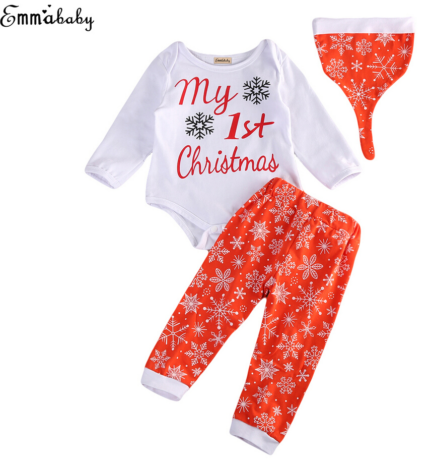 Cute Baby Christmas Clothing Infant Baby Girls Boy Cotton Romper ...
