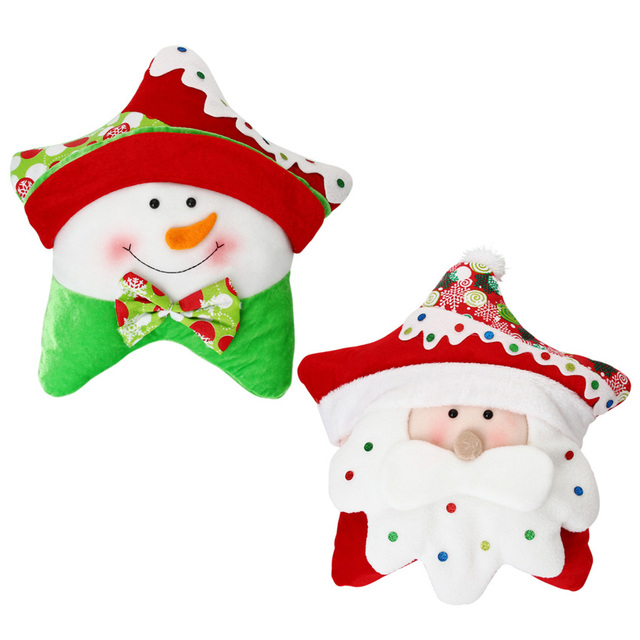 hot sale santa claus snowman 100 cotton cushion cute star shape home office decor sofa buy shape home office