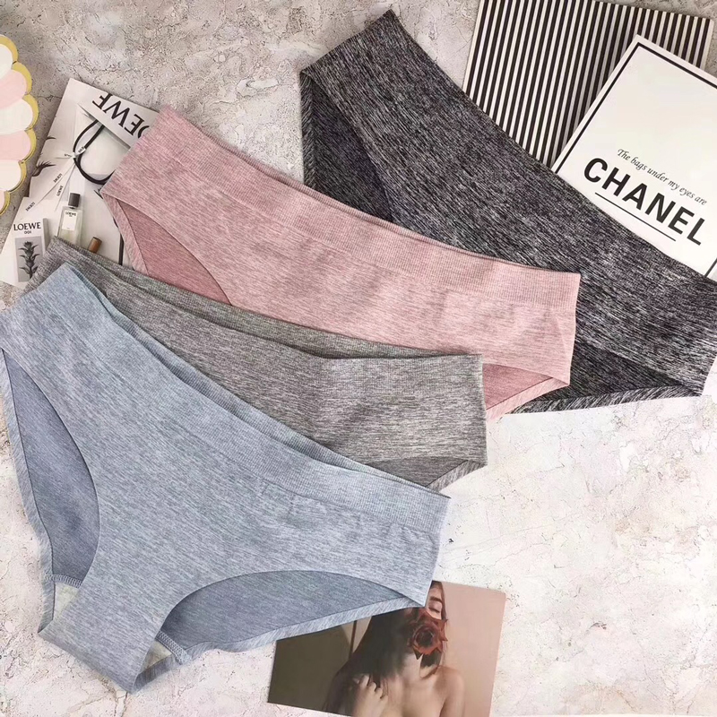 SP&CITY Simple Sporty Seamless Women   Panties   Sex String Low Waist Sexy Cotton Underwear Female Seamless Briefs Soft Lingerie