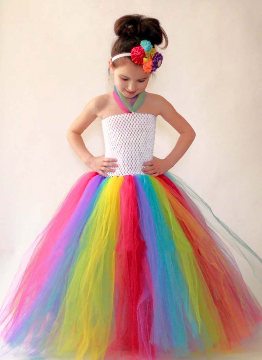 Spring colored tutu flower girl dresses