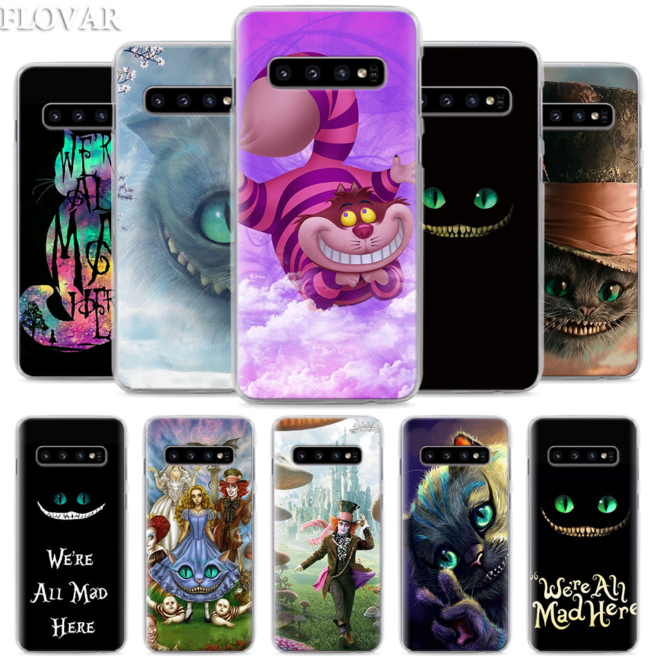 Alice in Wonderland Cheshire <font><b>Cats</b></font> Phone <font><b>Case</b></font> for <font><b>Samsung</b></font> <font><b>Galaxy</b></font> S10e S10 Plus S7 S8 S9 Plus Note 8 9 10 Plus M30 Hard <font><b>Case</b></font> Coque image