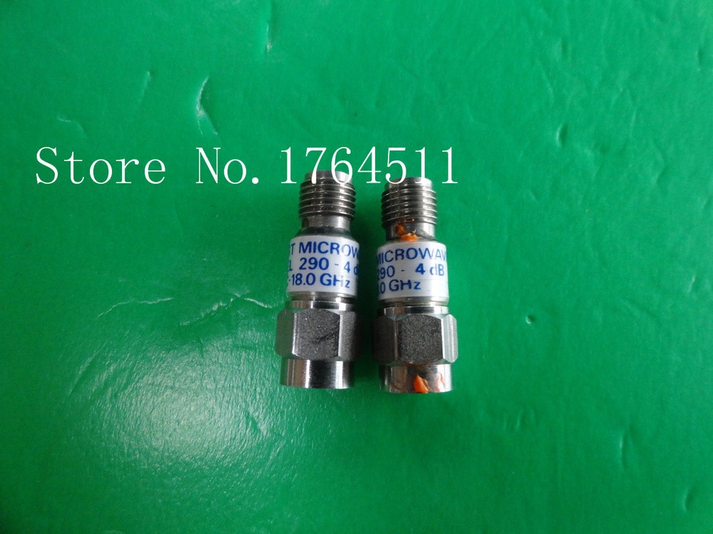 [BELLA] MIDWEST 290-4dB DC-18GHz Att:4dB P:2W SMA Coaxial Fixed Attenuator  --2PCS/LOT