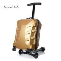 CARRYLOVE мультфильм чемодан серии 21 sizePersonality металл может скользить ПК на колесиках Spinner бренд Дорожный чемодан