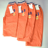 One Lot 4 Pieces Children Kids Summer Casual Orange Pleated Short Pants Trousers Zipper Pocket Shorts
