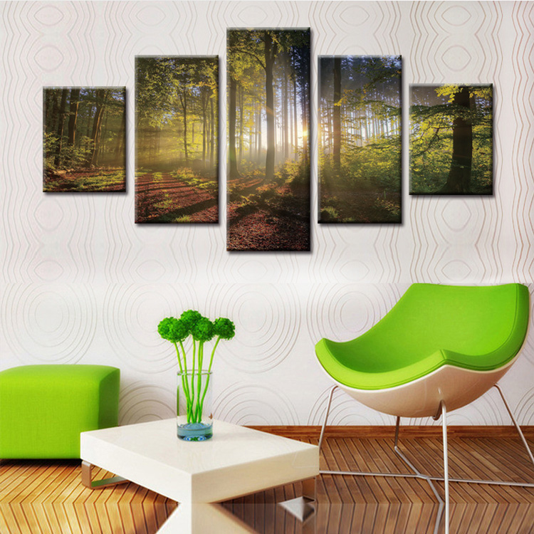 5 Panels Pastoral landscape series Canvas Print Painting Modern Canvas Wall Art for Wall Picture Home Decor Artwork in Painting Calligraphy from Home Garden