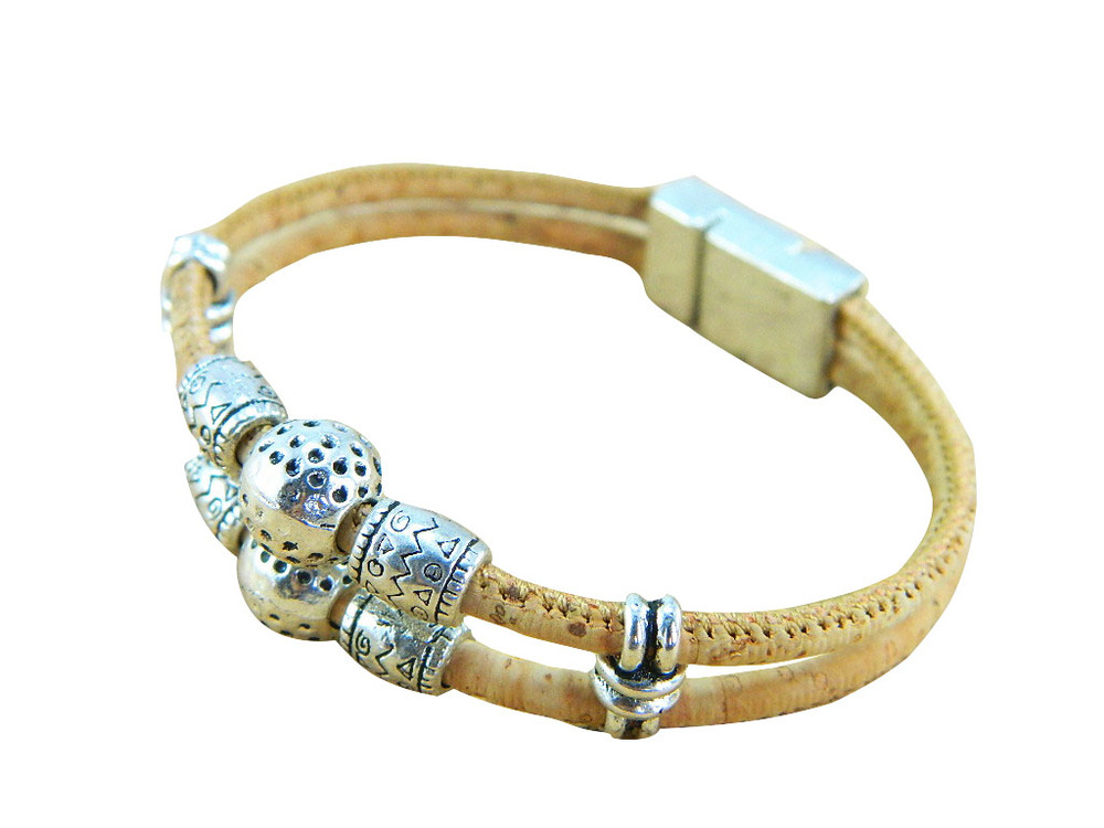 From Portugal Cork Jewelry Women Vintage Bracelets With