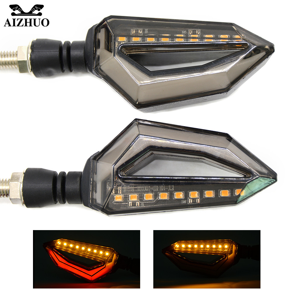 2 PCS Motorcycle Turn Signal Light Indicators Amber Light LED Universal Blinkers Flashers For yamaha tmax 530 500 yzf r1 r6 FZ6R