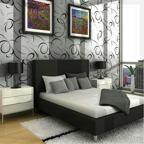 modern slaapkamer behang – artsmedia, Deco ideeën