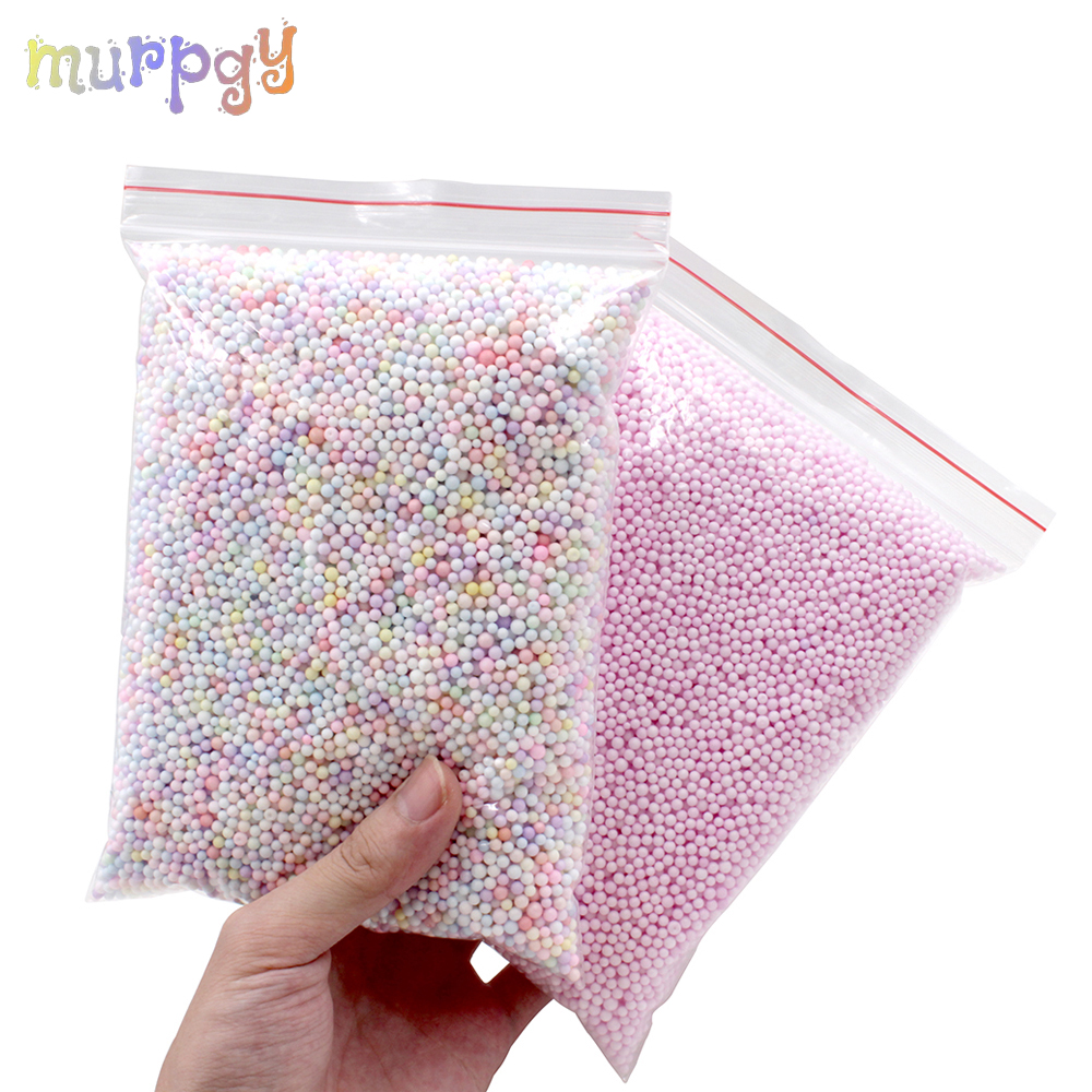 Big Bag Addition For Slime Warm Color Snow Mud Particles DIY Accessories Charms Tiny Foam Beads Slime Balls Slime Toys Supplies