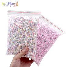 Big Bag Addition for slime Warm Color Snow Mud Particles DIY Accessories Charms Tiny Foam Beads Slime Balls Slime Toys Supplies(China)