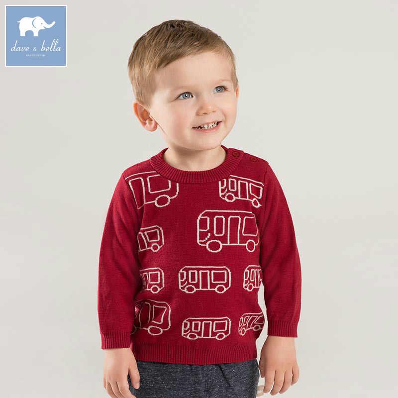 DB8843 דייב bella סתיו סרוג סוודר תינוקות בייבי בנים ארוך שרוול סוודר ילדים פעוט חולצות ילדים סרוג סוודר