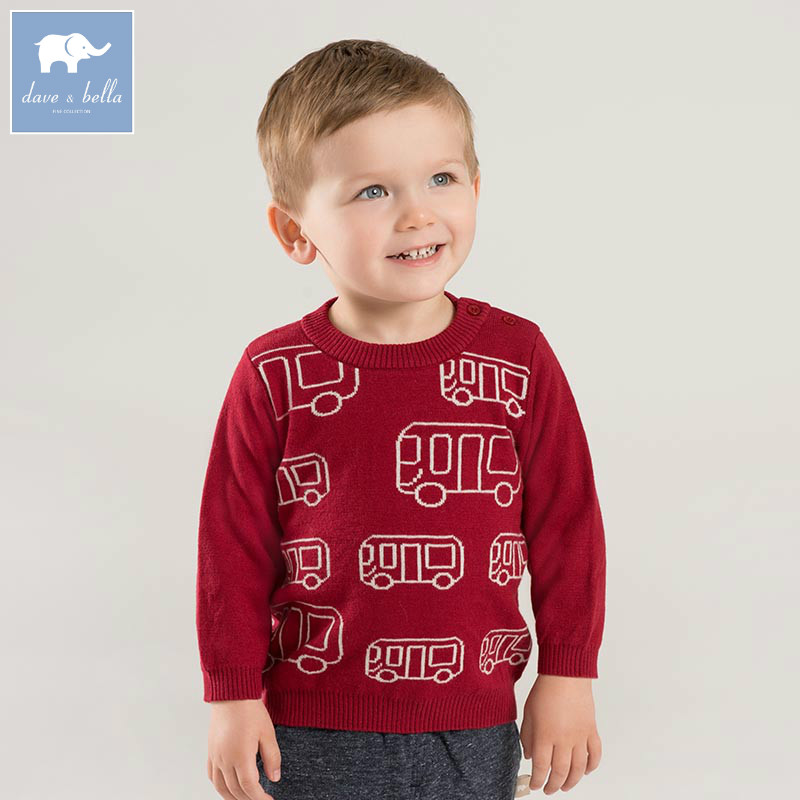 все цены на DB8843 dave bella autumn knitted sweater infant baby boys long sleeve pullover kids toddler tops children knitted sweater