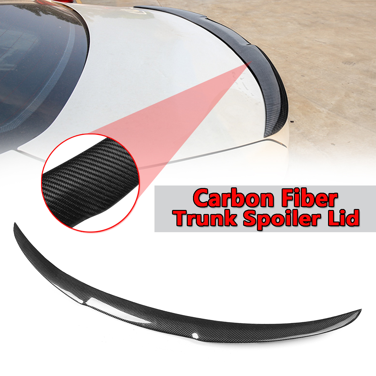 New Car Rear Carbon Fiber Rear Trunk Spoiler Wing For BMW 2011-2016 F10 F18 5 Series 528i 535i M5 Rear Trunk Roof Wing Spoiler f10 carbon fiber m4 style spoiler rear trunk lip wings for bmw 5 series f10 m5 2010 2017 520i 523i 525i 528i 535i