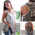 New Design Sexy Women Patchwork Vest Summer Fashion Leopard Print Tops Tank Sleeveless Hot Sale Shirt Casual Clothes For Women