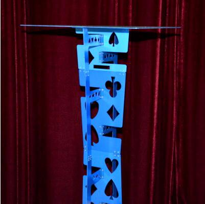 Free shipping Top Quality Magician Table - Folding ( Blue ),Magic Trick,Accessories,mentalism,stage,close up,comedy light heavy box stage magic floating table close up illusions accessories mentalism magic trick gimmick