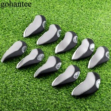 Neoprene 10ps Golf Irons Headcover Iron Putter Head Protective Covers Golf Club Head Cover Golf Club Head Accessories Gray+Black golf club putter head cover case yellow black 10 pack page 2