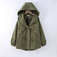 New spring autumn Jacket Women Windbreaker Long Loose Coat Harajuku Loose Hooded Streetwear Female Casual Vintage Coat Outwear
