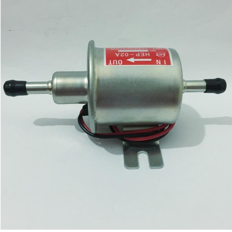 Envío libre gasolina diesel 12 V bomba de combustible eléctrica HEP-02A baja presión para carburador, motocicleta, ATV