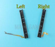 Original usado direita e esquerda slider com cabo flex linha reparo substituição para nintend switch console ns nx reconstruir