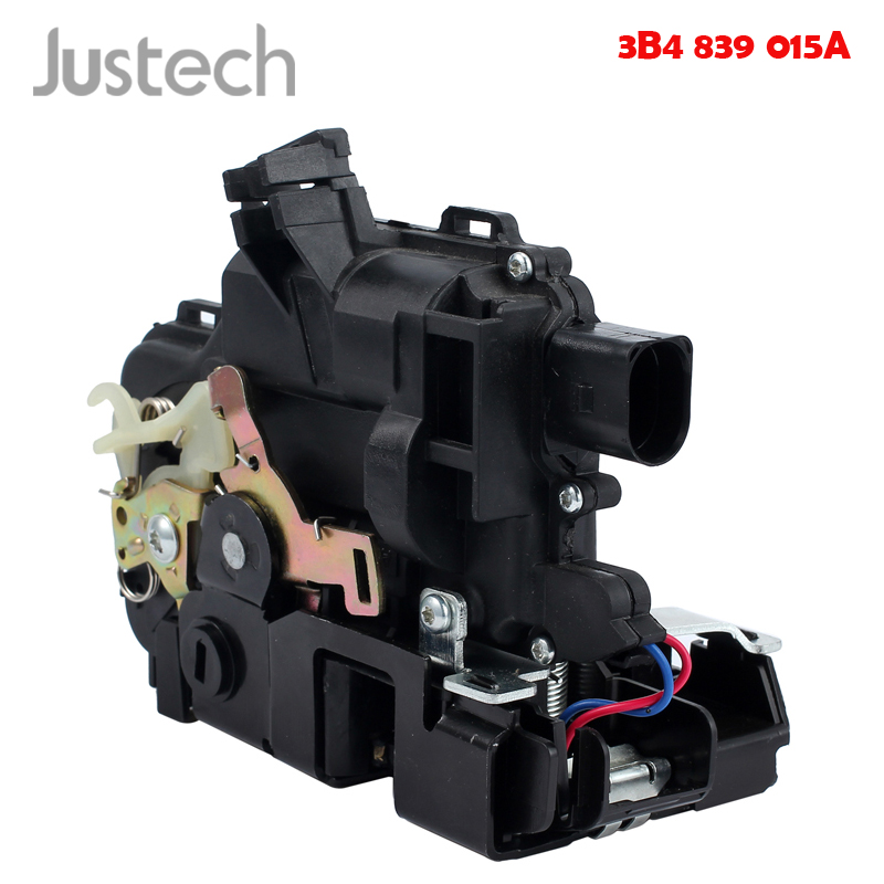 Justech 3B4839015A Door lock On The left Rear For VW Golf 4 IV Passat Seat Fit Central Locking System Car Microswitch Door Lock
