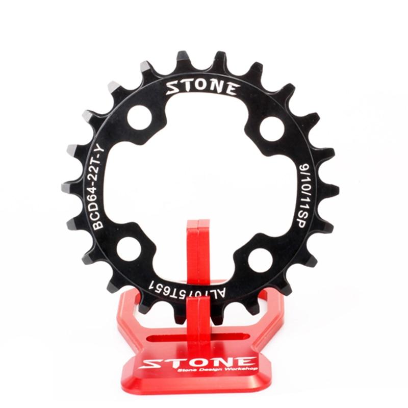 Plateau de vélo en pierre 64 BCD 64mm ovale ou cercle pour vtt remplacer le plateau intérieur étroit dents larges anneau de roue de vélo d'escalade