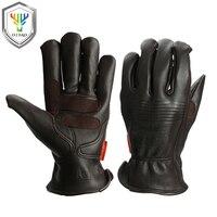 OZERO Men Work Gloves Welding Working Gloves Sheepskin Leather Safety Protective Garden Sports MOTO Wear Resisting