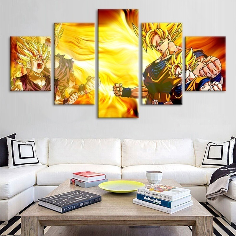 Anime Dragon Ball Fighting Drawing Painting for Living Room HD Picture on Canvas Wall Art for Children's Room Home Decor 2