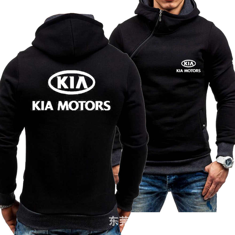 KIA Hoodies Hoody Jacke Winter Pullover Mans Unisex Verdicken Schrägen Zipper Fleece Männer Mantel KIA Sweatshirts Mens Hoodies