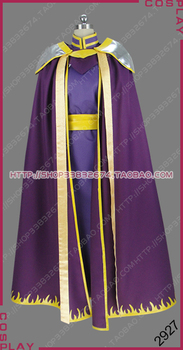 Fire Emblem: The Sacred Stones Necromancer Lyon Prince of Grado Outfit Cosplay Costume S002