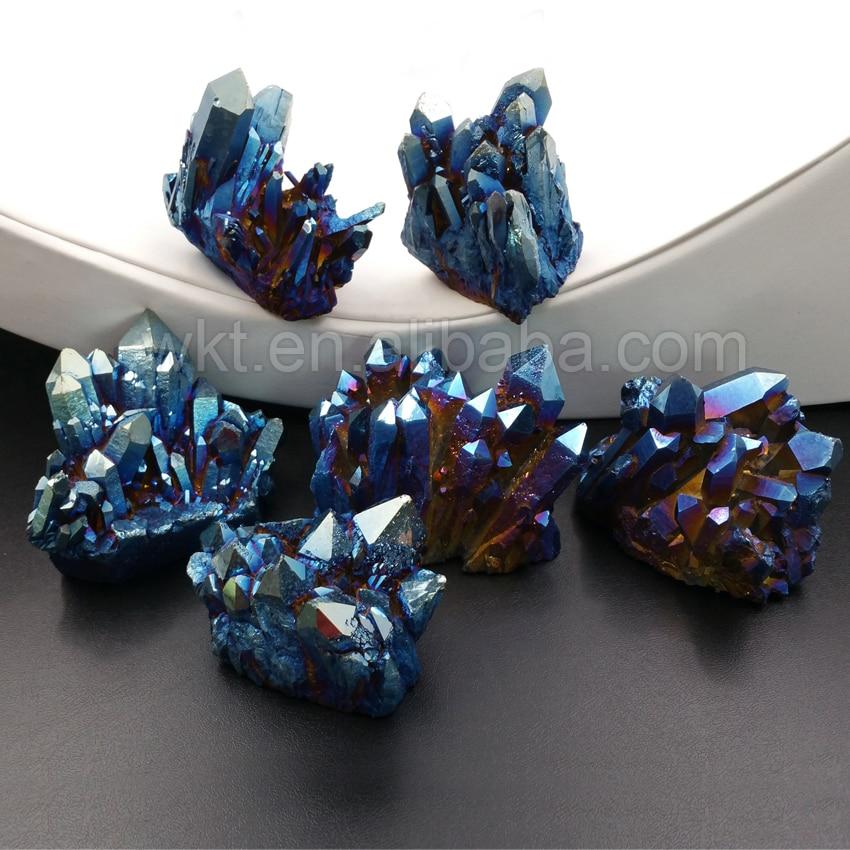 WT-G236 Wholesale custom Crystal quartz Stone Natural aura spirit quartz point stone Unique stone by each 6pcs natural fluorite quartz crystal wand point healing