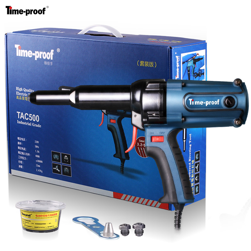 FASTER Original Time proof TAC500 electric riveter blind rivet gun riveting tool electrical power tool 220V