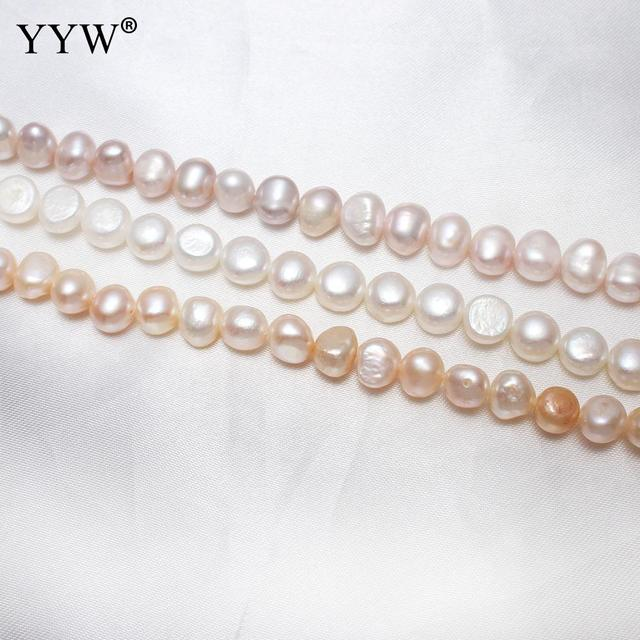 Cultured Baroque Freshwater Pearl Beads Natural Pink Purple White 8-9mm Approx 0.8mm Sold Per Approx 15.5 Inch Strand Jewlery