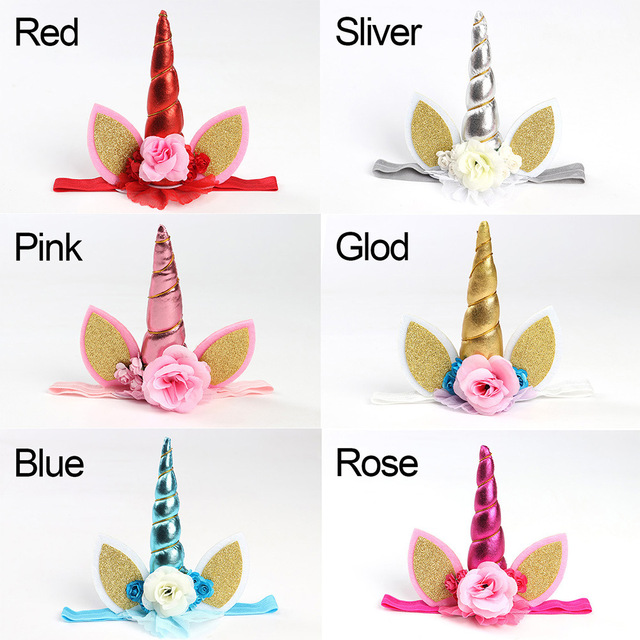 Photo Prop Unicorn Flower Crown Headband party headband Magical Unicorn  Headband Floral Gold Unicorn DIY Kit 324e16899fa