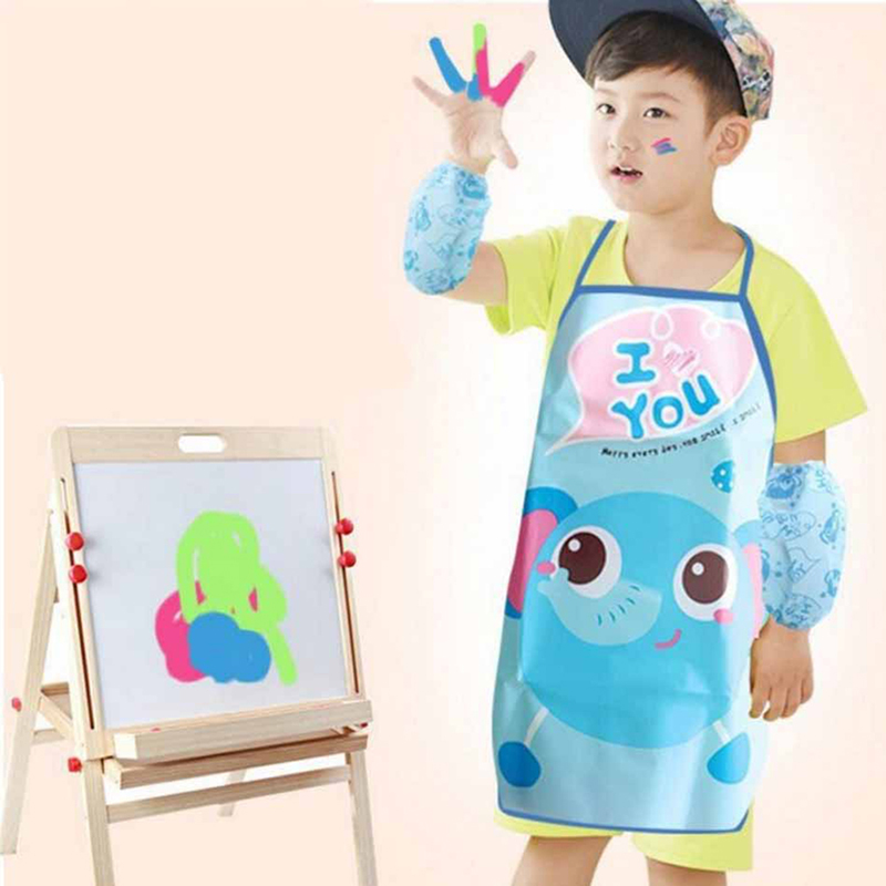 Aprons Adaptable 3pcs/set Cute Kids Chef Apron Sets Child Cooking Painting Waterproof Kitchen Cooking Baking Painting Art Keep Clean Pocket Apron Household Cleaning