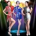 Jazz Dance Costumes for Women Modern Dance Costume Ballroom Dance Suit Sexy DJ Sequins Jazz Dance Outfit