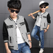 New Autumn Spring baby boy coat stripe fashion letter all-match children long jacket casual comfort teenager baseball clothes