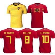 8197125d53b Top quality 2018 world cup Belgiumes Men home away Soccer Jersey 18 19  adult Football shirt