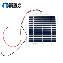 6V/2.7W 450mA poly cell transparency frosted pet solar panel module for charger use