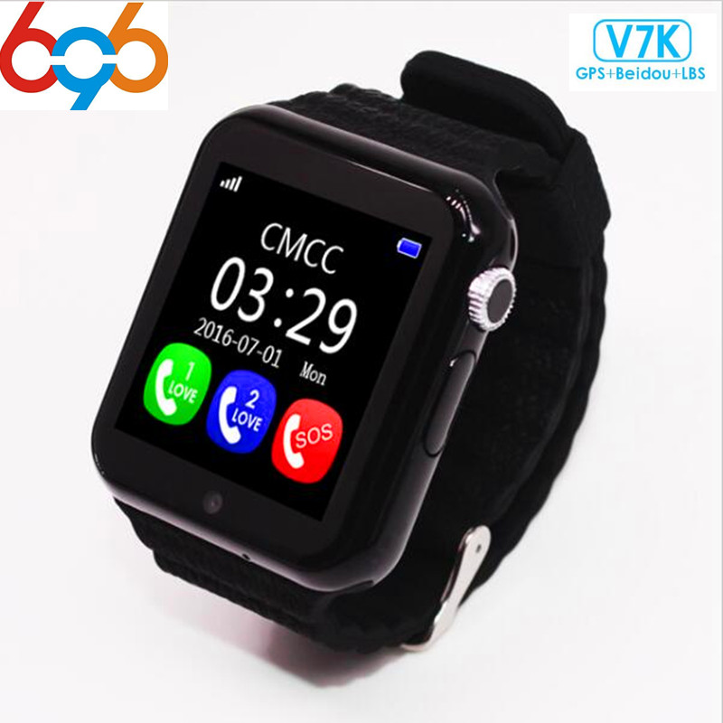696 Original V7K GPS Bluetooth Smart Watch for Kids Boy Girl Apple Android Phone Support SIM /TF Dial Call and Push Message цены онлайн